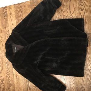Jackets & Blazers - Faux fur black jacket